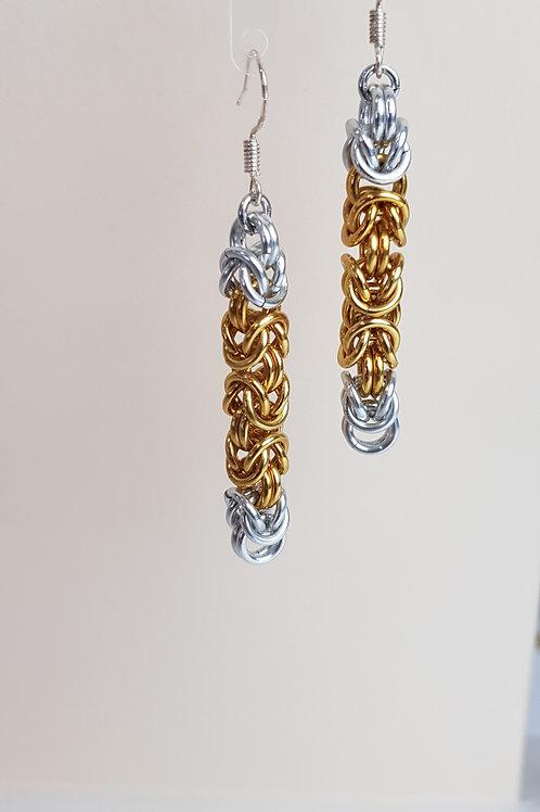Byzantine weave Earrings