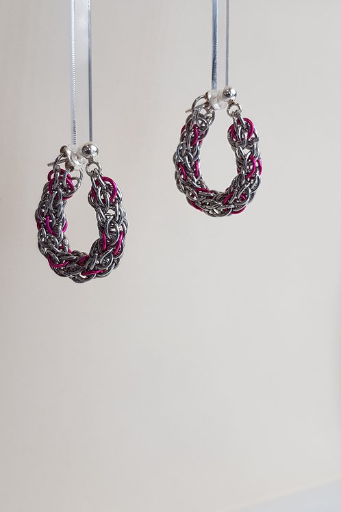 Candy Cane Cord Hoops