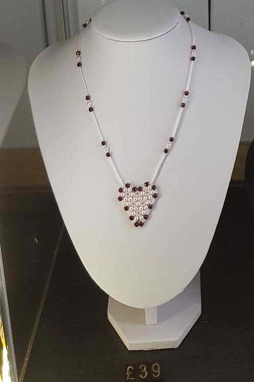 Swarovski Crystal Pearl Heart