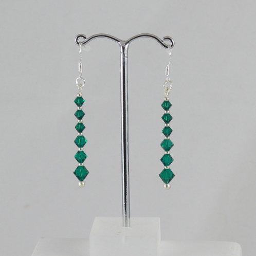 Graduated Swarovski Crystal earrings
