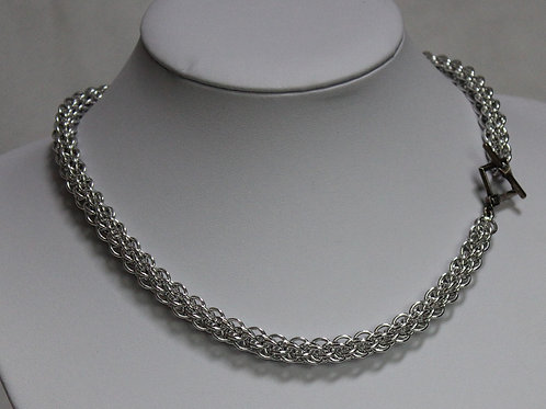 Bright Aluminium JPL5 necklace