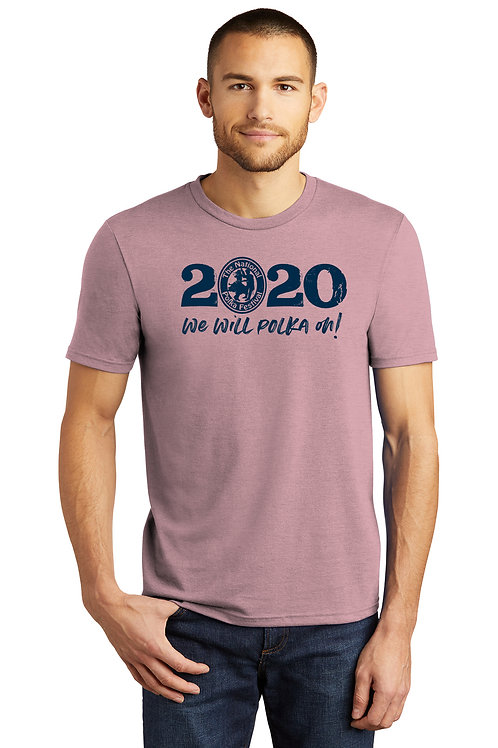 2020 National Polka Festival Shirt in Heather Lavender