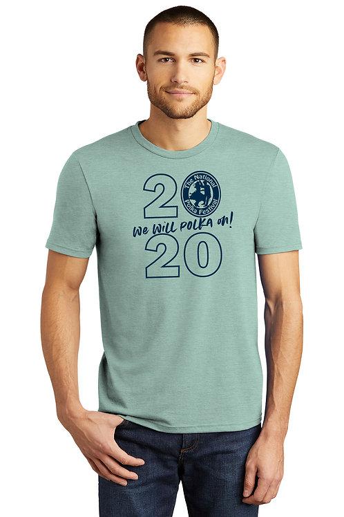 2020 National Polka Festival Shirt in Dusty Sage