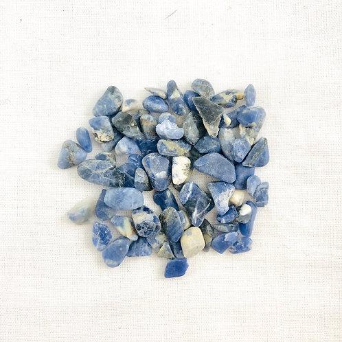 Sodalite Tumbled Tiny Chips (50 pc price)