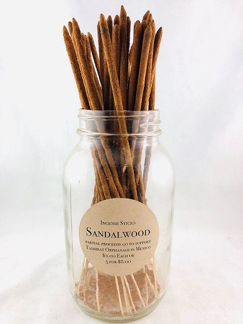 Hand Rolled Sandalwood Incense Individual Sticks