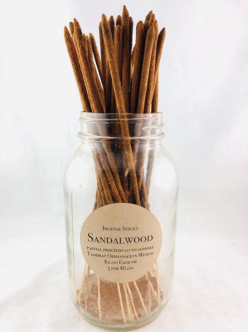 Hand Rolled Sandalwood Incense 5 sticks for $8.00