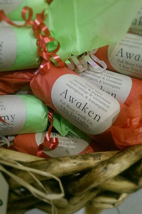 Awaken Tea Lights - 5 Assorted Soy Tea Lights