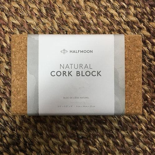 Halfmoon Natural Cork Yoga Block