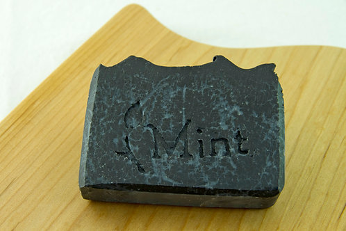 Activated Charcoal Soap Bar ~ Peppermint & Tea Tree