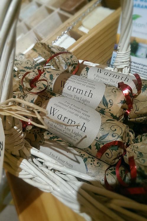 Warmth Tea Lights - 5 Beeswax Tea Light Candles