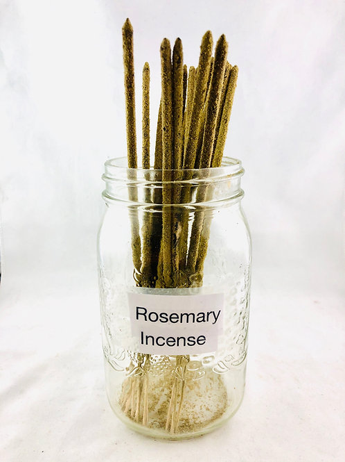 Hand Rolled Rosemary Incense 5 Sticks for $8.00