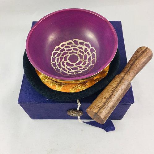 """Singing Bowl Crown Chakra Violet 3.25"""""""