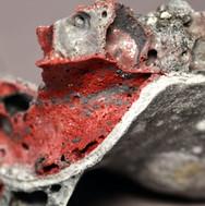 inside fragment of vessel with volcanic glaze