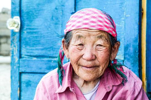 Nomadic woman, Mongolia