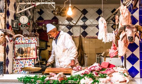 Butcher in Marrakech, Morocco
