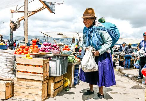 Market in Latacunga, Ecuador