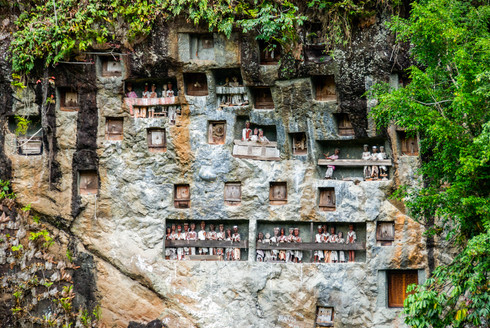 The hanging graves of the Toraja, Indonesia