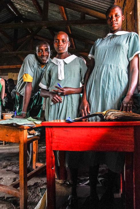 School children from village, Kenya