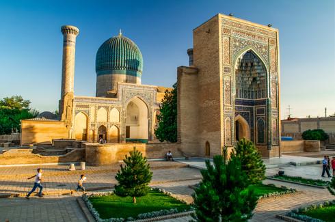 Gur Emir Mausoleum in Samarkand, Uzbekistan