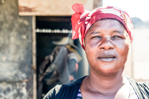 Woman from township in Cape Town, South Africa