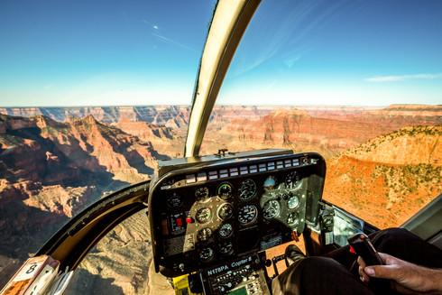Flying over Grand Canyon, USA