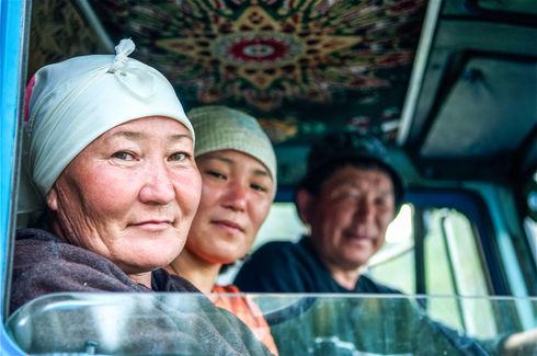 Farmers in Altai region, Russia