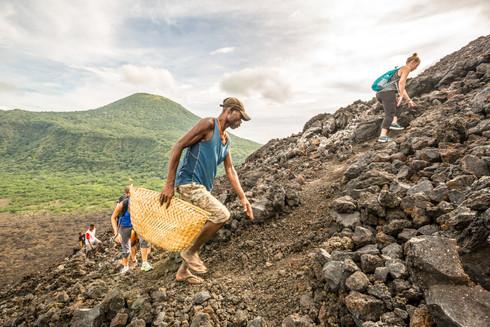 Climbing Tavurvur Volcano, Papua New Guinea
