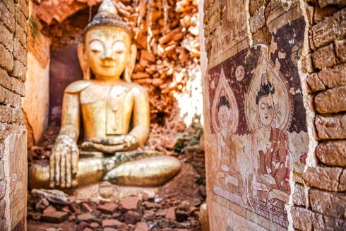 Ruins at village near Inle Lake, Myanmar