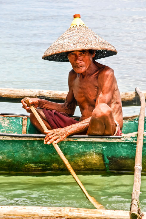 Fisherman from remote island, Philippines