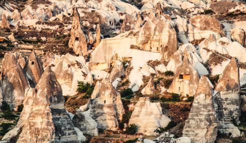 Houses in Cappadocia, Turkey