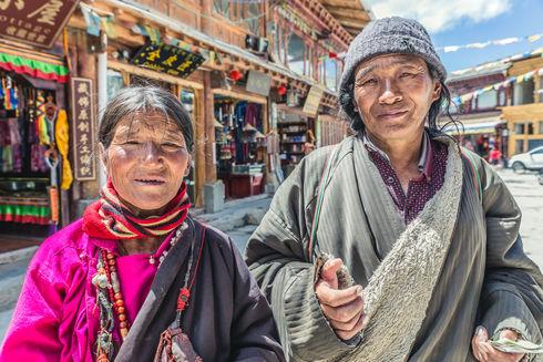 Farmers in Shangri-La, China