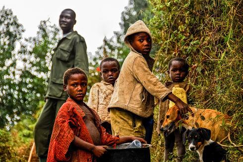 Villagers from Nkuringo, Uganda