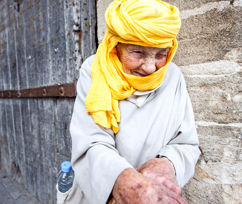Old woman from Essaouira, Morocco