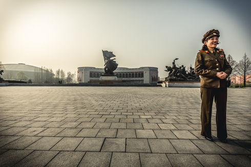 Victorious Fatherland Liberation War Museum in Pyongyang, North Korea