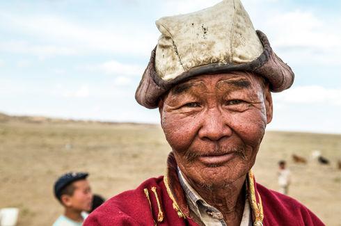 Nomads in the Gobi Desert, Mongolia
