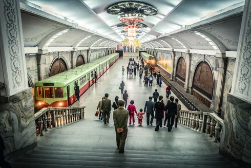 Metro in Pyongyang, North Korea