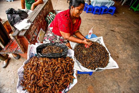 Snack food in Yangon, Myanmar