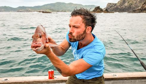 Fishing in Bay of Islands, New Zealand