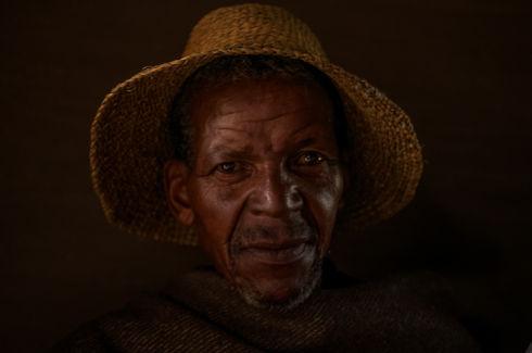 Farmer from village, Lesotho