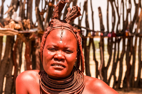 Woman from Himba tribe, Namibia
