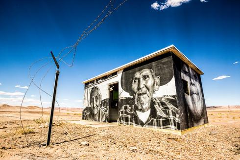 Art in the middle of Arizona desert, USA
