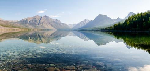 Lake McDonald in Glacier National Park, USA