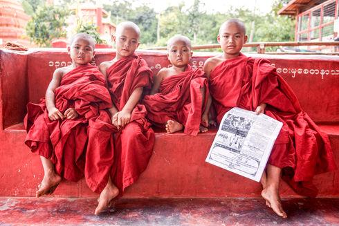 Novice monks at Inle Lake, Myanmar