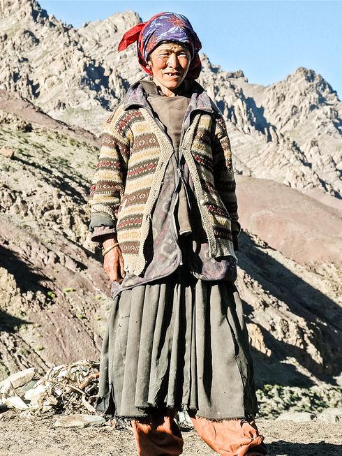 Farmer in rural Ladakh, India