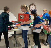 Boxing gifts for Operation Christmas Child