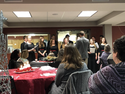 Holiday Dinner with a High School choir perfomance