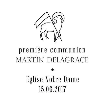 Tampon communion Martin