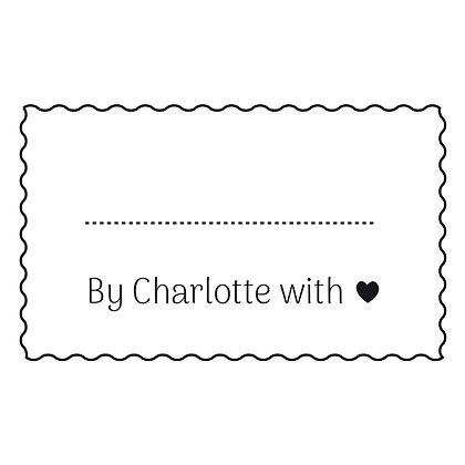 """Tampon """"fait maison"""" Charlotte"""