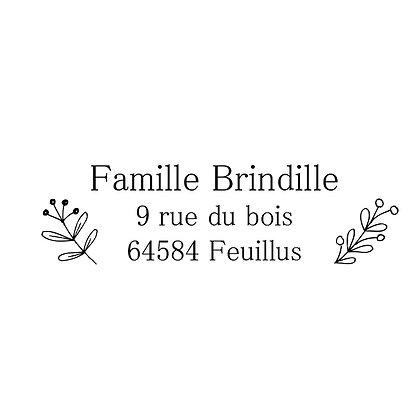 Tampon adresse Brindilles