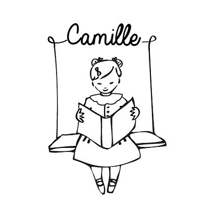 Tampon pour livre Camille